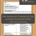 risk assessmeent template for film and video production (free)
