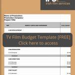 Tv film budget template free
