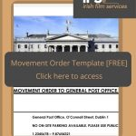 free movement order template for location shooting